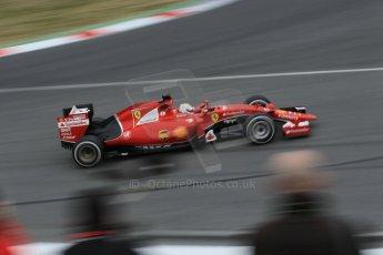 World © Octane Photographic Ltd. Scuderia Ferrari SF15-T– Sebastian Vettel. Saturday 21st February 2015, F1 Winter testing, Circuit de Barcelona Catalunya, Spain, Day 3. Digital Ref: 1190CB1L7484