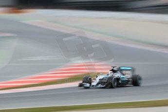 World © Octane Photographic Ltd. Mercedes AMG Petronas F1 W06 Hybrid – Lewis Hamilton. Saturday 21st February 2015, F1 Winter testing, Circuit de Barcelona Catalunya, Spain, Day 3. Digital Ref : 1190CB1L7697