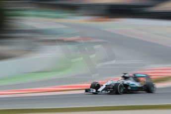 World © Octane Photographic Ltd. Mercedes AMG Petronas F1 W06 Hybrid – Lewis Hamilton. Saturday 21st February 2015, F1 Winter testing, Circuit de Barcelona Catalunya, Spain, Day 3. Digital Ref : 1190CB1L7698