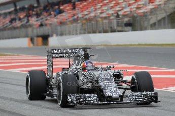 World © Octane Photographic Ltd. Infiniti Red Bull Racing RB11 – Daniil Kvyat. Saturday 21st February 2015, F1 Winter testing, Circuit de Barcelona Catalunya, Spain, Day 3. Digital Ref : 1190CB1L7886