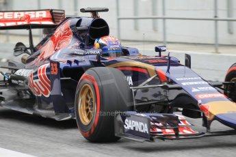 World © Octane Photographic Ltd. Scuderia Toro Rosso STR10 – Max Verstappen. Saturday 21st February 2015, F1 Winter testing, Circuit de Barcelona Catalunya, Spain, Day 3. Digital Ref: 1190CB1L7977