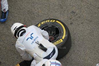 World © Octane Photographic Ltd. Williams Martini Racing FW37 – Felipe Massa practice pitstop. Saturday 21st February 2015, F1 Winter testing, Circuit de Barcelona Catalunya, Spain, Day 3. Digital Ref: 1190CB1L8118