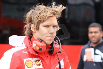 World © Octane Photographic Ltd. Scuderia Ferrari, Antti Kontsas – Sebastian Vettel's personal trainer. Saturday 21st February 2015, F1 Winter testing, Circuit de Barcelona Catalunya, Spain, Day 3. Digital Ref: 1190CB1L8172