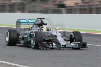 World © Octane Photographic Ltd. Mercedes AMG Petronas F1 W06 Hybrid – Lewis Hamilton. Saturday 21st February 2015, F1 Winter testing, Circuit de Barcelona Catalunya, Spain, Day 3. Digital Ref : 1190CB1L8347