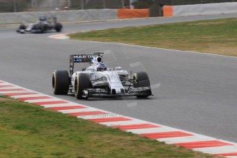 World © Octane Photographic Ltd. Williams Martini Racing FW37 – Valtteri Bottas, Saturday 21st February 2015, F1 Winter testing, Circuit de Barcelona Catalunya, Spain, Day 3. Digital Ref: 1190CB1L8459