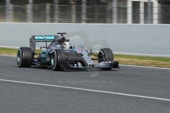 World © Octane Photographic Ltd. Mercedes AMG Petronas F1 W06 Hybrid – Lewis Hamilton. Saturday 21st February 2015, F1 Winter testing, Circuit de Barcelona Catalunya, Spain, Day 3. Digital Ref : 1190CB1L8538