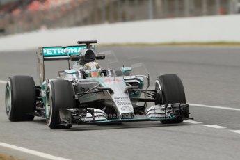 World © Octane Photographic Ltd. Mercedes AMG Petronas F1 W06 Hybrid – Lewis Hamilton. Saturday 21st February 2015, F1 Winter testing, Circuit de Barcelona Catalunya, Spain, Day 3. Digital Ref : 1190CB7L6266