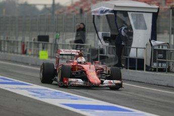 World © Octane Photographic Ltd. Scuderia Ferrari SF15-T– Sebastian Vettel. Saturday 21st February 2015, F1 Winter testing, Circuit de Catalunya, Barcelona, Spain, Day 3. Digital Ref: 1190LB1D7764