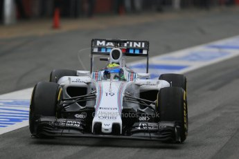 World © Octane Photographic Ltd. Williams Martini Racing FW37 – Felipe Massa. Saturday 21st February 2015, F1 Winter testing, Circuit de Catalunya, Barcelona, Spain, Day 3. Digital Ref: 1190LB1D7859