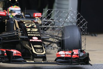 World © Octane Photographic Ltd. Lotus F1 Team E23 Hybrid – Pastor Maldonado. Saturday 21st February 2015, F1 Winter testing, Circuit de Catalunya, Barcelona, Spain, Day 3. Digital Ref : 1190LB1D7880