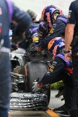 World © Octane Photographic Ltd. Infiniti Red Bull Racing RB11 – Daniil Kvyat - Pit crew. Saturday 21st February 2015, F1 Winter testing, Circuit de Catalunya, Barcelona, Spain, Day 3. Digital Ref : 1190LB1D8202
