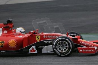 World © Octane Photographic Ltd. Scuderia Ferrari SF15-T– Sebastian Vettel. Saturday 21st February 2015, F1 Winter testing, Circuit de Catalunya, Barcelona, Spain, Day 3. Digital Ref: 1190LB1D8482