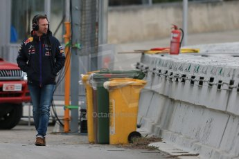 World © Octane Photographic Ltd. Infiniti Red Bull Racing - Christian Horner. Saturday 21st February 2015, F1 Winter testing, Circuit de Catalunya, Barcelona, Spain, Day 3. Digital Ref : 1190LB1D8632