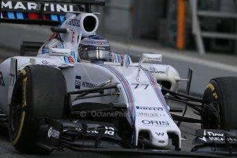 World © Octane Photographic Ltd. Williams Martini Racing FW37 – Valtteri Bottas, Saturday 21st February 2015, F1 Winter testing, Circuit de Catalunya, Barcelona, Spain, Day 3. Digital Ref: 1190LB1D8944