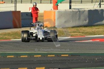 World © Octane Photographic Ltd. Williams Martini Racing FW37 – Valtteri Bottas. Sunday 22nd February 2015, F1 Winter testing, Circuit de Barcelona Catalunya, Spain, Day 4. Digital Ref: 1191CB1L8641