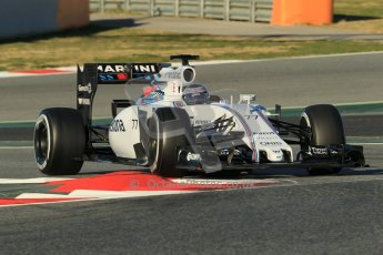 World © Octane Photographic Ltd. Williams Martini Racing FW37 – Valtteri Bottas. Sunday 22nd February 2015, F1 Winter testing, Circuit de Barcelona Catalunya, Spain, Day 4. Digital Ref: 1191CB1L8649