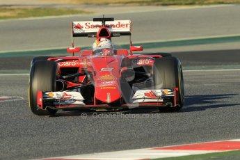 World © Octane Photographic Ltd. Scuderia Ferrari SF15-T– Sebastian Vettel. Sunday 22nd February 2015, F1 Winter testing, Circuit de Barcelona Catalunya, Spain, Day 4. Digital Ref: 1191CB1L8671