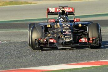 World © Octane Photographic Ltd. Lotus F1 Team E23 Hybrid – Romain Grosjean. Sunday 22nd February 2015, F1 Winter testing, Circuit de Barcelona Catalunya, Spain, Day 4. Digital Ref :1191CB1L8691