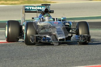 World © Octane Photographic Ltd. Mercedes AMG Petronas F1 W06 Hybrid – Nico Rosberg. Sunday 22nd February 2015, F1 Winter testing, Circuit de Barcelona Catalunya, Spain, Day 4. Digital Ref : 1191CB1L8742