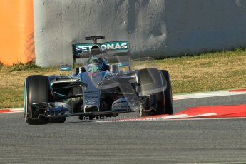World © Octane Photographic Ltd. Mercedes AMG Petronas F1 W06 Hybrid – Nico Rosberg. Sunday 22nd February 2015, F1 Winter testing, Circuit de Barcelona Catalunya, Spain, Day 4. Digital Ref : 1191CB1L8903