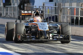 World © Octane Photographic Ltd. Sahara Force India VJM07 – Nico Hulkenberg. Sunday 22nd February 2015, F1 Winter test #2, Circuit de Barcelona Catalunya, Spain, Day 4. Digital Ref :1191CB1L9048