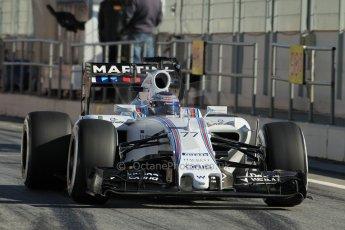 World © Octane Photographic Ltd. Williams Martini Racing FW37 – Valtteri Bottas. Sunday 22nd February 2015, F1 Winter test #2, Circuit de Barcelona Catalunya, Spain, Day 4. Digital Ref: 1191CB1L9119