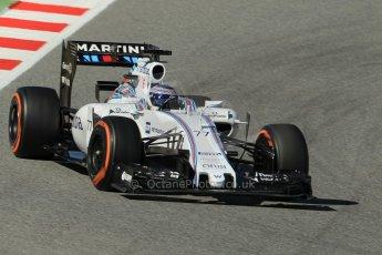 World © Octane Photographic Ltd. Williams Martini Racing FW37 – Valtteri Bottas. Sunday 22nd February 2015, F1 Winter test #2, Circuit de Barcelona Catalunya, Spain, Day 4. Digital Ref: 1191CB1L9156
