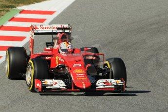 World © Octane Photographic Ltd. Scuderia Ferrari SF15-T– Sebastian Vettel. Sunday 22nd February 2015, F1 Winter test #2, Circuit de Barcelona Catalunya, Spain, Day 4. Digital Ref: 1191CB1L9164