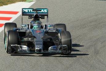 World © Octane Photographic Ltd. Mercedes AMG Petronas F1 W06 Hybrid – Nico Rosberg. Sunday 22nd February 2015, F1 Winter test #2, Circuit de Barcelona Catalunya, Spain, Day 4. Digital Ref : 1191CB1L9170