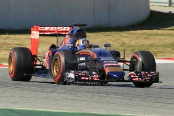 World © Octane Photographic Ltd. Scuderia Toro Rosso STR10 – Carlos Sainz Jnr. Sunday 22nd February 2015, F1 Winter test #2, Circuit de Barcelona Catalunya, Spain, Day 4. Digital Ref: 1191CB1L9280