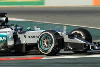 World © Octane Photographic Ltd. Mercedes AMG Petronas F1 W06 Hybrid – Nico Rosberg. Sunday 22nd February 2015, F1 Winter test #2, Circuit de Barcelona Catalunya, Spain, Day 4. Digital Ref : 1191CB1L9343