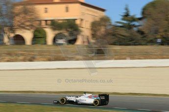 World © Octane Photographic Ltd. Williams Martini Racing FW37 – Valtteri Bottas. Sunday 22nd February 2015, F1 Winter test #2, Circuit de Barcelona Catalunya, Spain, Day 4. Digital Ref: 1191CB1L9481