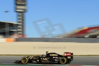 World © Octane Photographic Ltd. Lotus F1 Team E23 Hybrid – Romain Grosjean. Sunday 22nd February 2015, F1 Winter test #2, Circuit de Barcelona Catalunya, Spain, Day 4. Digital Ref :1191CB1L9510