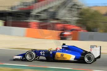 World © Octane Photographic Ltd. Sauber F1 Team C34-Ferrari – Felipe Nasr. Sunday 22nd February 2015, F1 Winter test #2, Circuit de Barcelona Catalunya, Spain, Day 4. Digital Ref : 1191CB1L9514