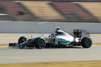 World © Octane Photographic Ltd. Mercedes AMG Petronas F1 W06 Hybrid – Nico Rosberg. Sunday 22nd February 2015, F1 Winter test #2, Circuit de Barcelona Catalunya, Spain, Day 4. Digital Ref : 1191CB1L9542