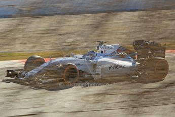 World © Octane Photographic Ltd. Williams Martini Racing FW37 – Valtteri Bottas. Sunday 22nd February 2015, F1 Winter test #2, Circuit de Barcelona Catalunya, Spain, Day 4. Digital Ref: 1191CB1L9617