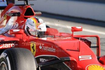 World © Octane Photographic Ltd. Scuderia Ferrari SF15-T– Sebastian Vettel. Sunday 22nd February 2015, F1 Winter test #2, Circuit de Barcelona Catalunya, Spain, Day 4. Digital Ref: 1191CB7B0734