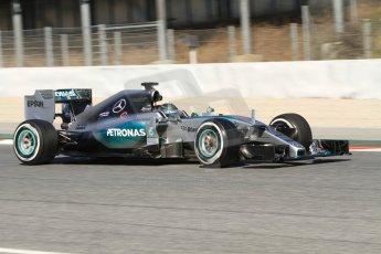 World © Octane Photographic Ltd. Mercedes AMG Petronas F1 W06 Hybrid – Nico Rosberg. Sunday 22nd February 2015, F1 Winter test #2, Circuit de Barcelona Catalunya, Spain, Day 4. Digital Ref : 1191CB7B0788