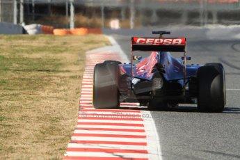 World © Octane Photographic Ltd. Scuderia Toro Rosso STR10 – Carlos Sainz Jnr. Sunday 22nd February 2015, F1 Winter test #2, Circuit de Barcelona Catalunya, Spain, Day 4. Digital Ref: 1191CB7B0821