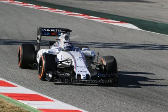 World © Octane Photographic Ltd. Williams Martini Racing FW37 – Valtteri Bottas. Sunday 22nd February 2015, F1 Winter test #2, Circuit de Barcelona, Catalunya, Spain, Day 4. Digital Ref: 1191LB1D0057
