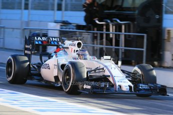 1191LB1D8959World © Octane Photographic Ltd. Williams Martini Racing FW37 – Valtteri Bottas. Sunday 22nd February 2015, F1 Winter testing, Circuit de Catalunya, Barcelona, Spain, Day 4. Digital Ref: 1191LB1D8950