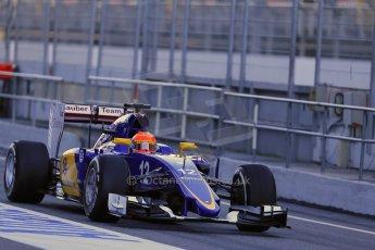 World © Octane Photographic Ltd. Sauber F1 Team C34-Ferrari – Felipe Nasr. Sunday 22nd February 2015, F1 Winter testing, Circuit de Catalunya, Barcelona, Spain, Day 4. Digital Ref : 1191LB1D9097