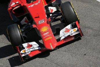 World © Octane Photographic Ltd. Scuderia Ferrari SF15-T– Sebastian Vettel. Sunday 22nd February 2015, F1 Winter test #2, Circuit de Barcelona, Catalunya, Spain, Day 4. Digital Ref: 1191LB1D9589