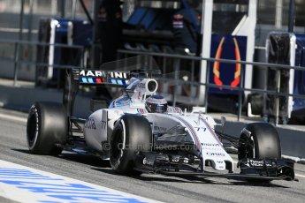 World © Octane Photographic Ltd. Williams Martini Racing FW37 – Valtteri Bottas. Sunday 22nd February 2015, F1 Winter test #2, Circuit de Barcelona, Catalunya, Spain, Day 4. Digital Ref: 1191LB1D9633