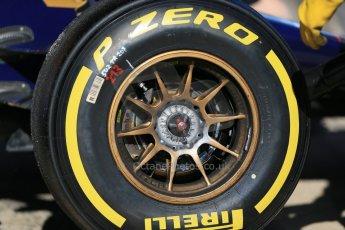 World © Octane Photographic Ltd. Scuderia Toro Rosso STR10 – Pirelli tyre. Sunday 22nd February 2015, F1 Winter test #2, Circuit de Barcelona, Catalunya, Spain, Day 4. Digital Ref: 1191LB1D9676