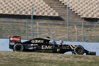 World © Octane Photographic Ltd. Lotus F1 Team E23 Hybrid – Romain Grosjean. Sunday 22nd February 2015, F1 Winter test #2, Circuit de Barcelona, Catalunya, Spain, Day 4. Digital Ref :1191LB1D9707