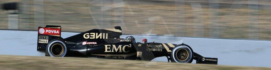 World © Octane Photographic Ltd. Lotus F1 Team E23 Hybrid – Romain Grosjean. Sunday 22nd February 2015, F1 Winter test #2, Circuit de Barcelona, Catalunya, Spain, Day 4. Digital Ref :1191LB1D9763