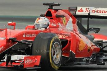 World © Octane Photographic Ltd. Scuderia Ferrari SF15-T– Sebastian Vettel. Sunday 1st March 2015, F1 Winter test #3, Circuit de Barcelona-Catalunya, Spain Test 2 Day 4. Digital Ref: 1195CB1L3993