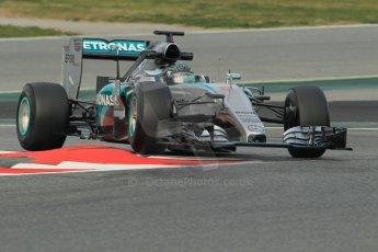 World © Octane Photographic Ltd. Mercedes AMG Petronas F1 W06 Hybrid – Nico Rosberg. Sunday 1st March 2015, F1 Winter test #3, Circuit de Barcelona-Catalunya, Spain Test 2 Day 4. Digital Ref: 1195CB1L4027