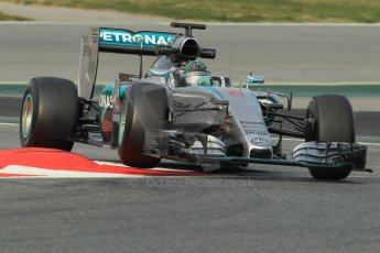 World © Octane Photographic Ltd. Mercedes AMG Petronas F1 W06 Hybrid – Nico Rosberg. Sunday 1st March 2015, F1 Winter test #3, Circuit de Barcelona-Catalunya, Spain Test 2 Day 4. Digital Ref: 1195CB1L4079
